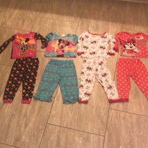 Set of 4 Minnie Mouse Pajamas